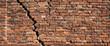 Leinwandbild Motiv Red brick wall texture for background, Old red brick wall damaged background
