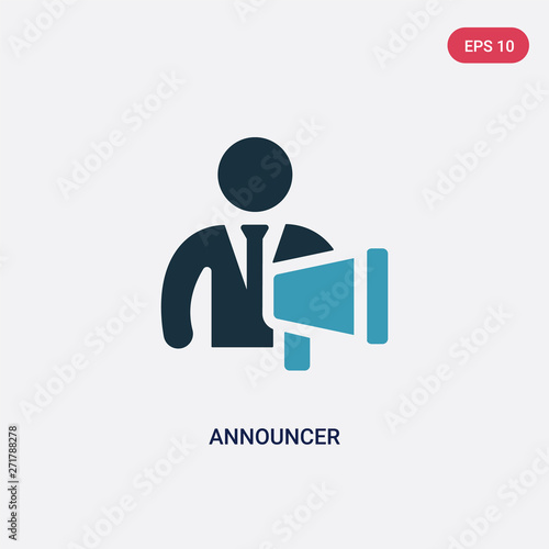 two color announcer vector icon from people skills concept Wallpaper Mural