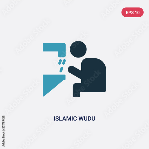 Fotografia, Obraz two color islamic wudu vector icon from religion-2 concept