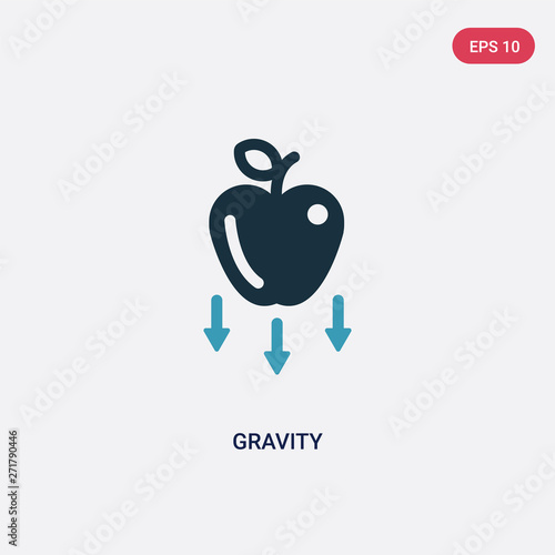 Obraz na plátně two color gravity vector icon from science concept