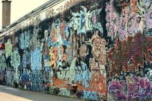 Graffiti On Wall, Street Art
