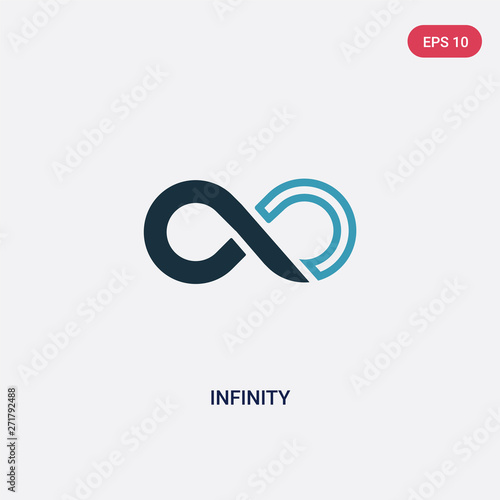 Carta da parati two color infinity vector icon from signs concept