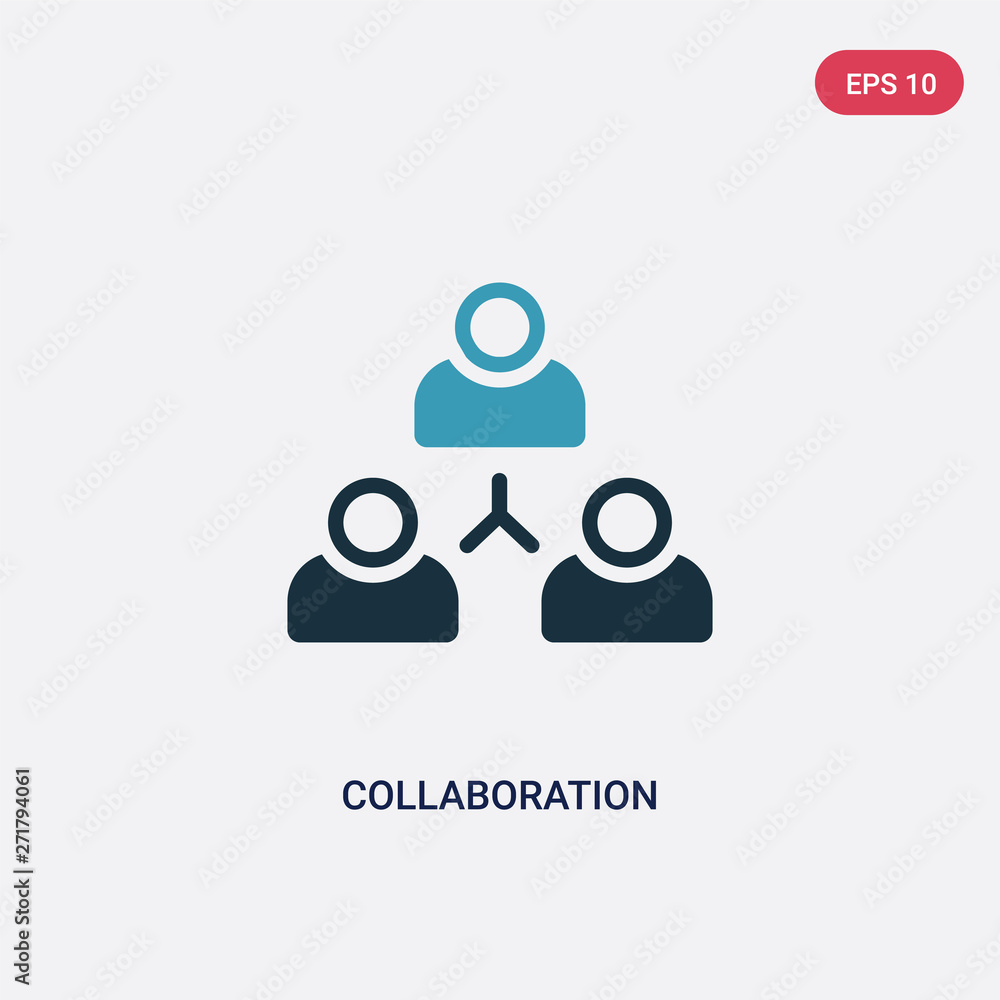 Fototapeta two color collaboration vector icon from strategy concept. isolated blue collaboration vector sign symbol can be use for web, mobile and logo. eps 10