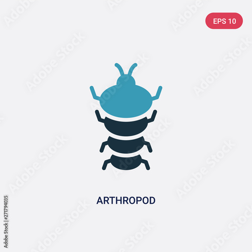 two color arthropod vector icon from stone age concept Wallpaper Mural