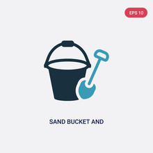 Two Color Sand Bucket And Shov...