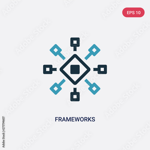 two color frameworks vector icon from technology concept Canvas Print