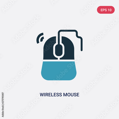 two color wireless mouse vector icon from technology concept