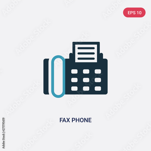 two color fax phone vector icon from technology concept isolated blue fax phone vector sign symbol can be use for web mobile and logo eps 10 buy this stock vector and adobe stock