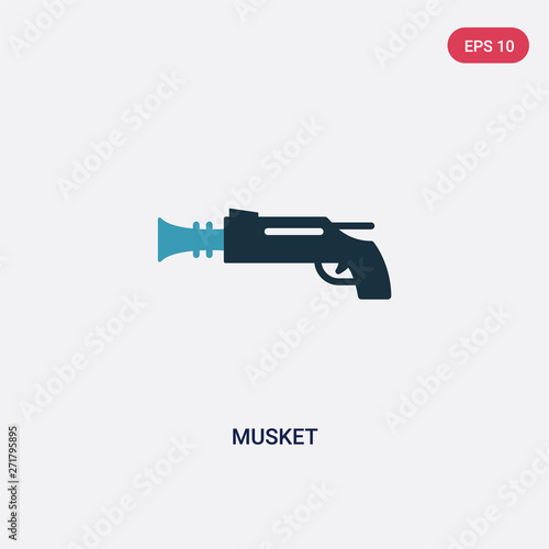 two color musket vector icon from weapons concept Wallpaper Mural