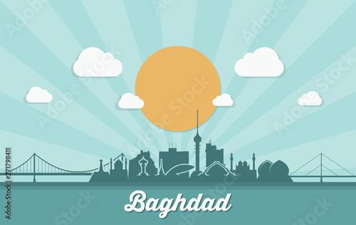 Fotografija  Baghdad skyline - Iraq - vector illustration - Vector