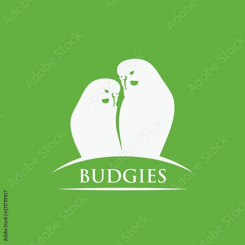 Fotografia Budgerigars symbol - budgies - vector illustration - Vector