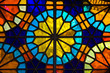 canvas print picture - Stained glass window