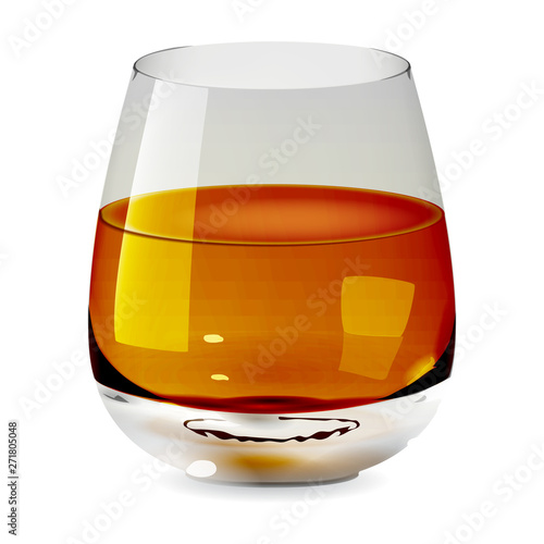 Valokuva Vector realistic transparent and isolated tumbler glass with whiskey