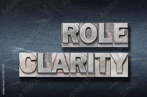 role clarity den Fototapet
