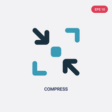Two Color Compress Vector Icon...