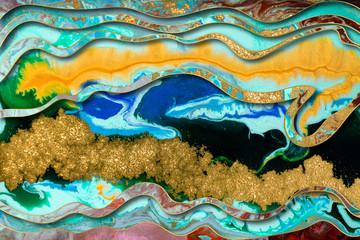 Panel Szklany Podświetlane Abstrakcja Marble abstract acrylic background. Marbling artwork texture. Agate ripple pattern. Gold powder.