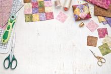 Bright Square Pieces Of Fabric...