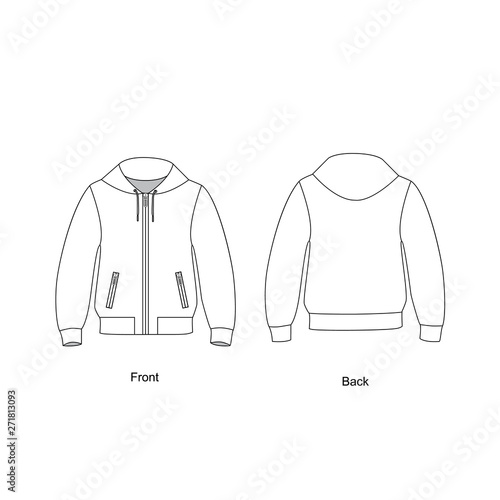Fotografia Bomber jacket unisex,  vector illustration