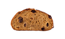 Slice Of Pumpkin Bread On A White Background