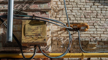 Electrical Metal Old Panel On ...
