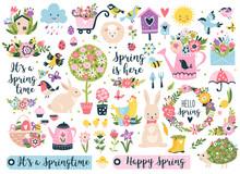 Spring Set, Hand Drawn Element...