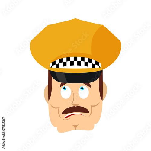 Taxi driver confused emoji oops Fotobehang