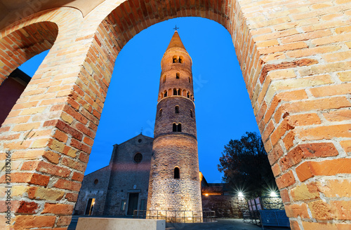 Cathedral of Caorle (Veneto Region) in the night time