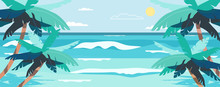 Vector Illustration Of A Beach...