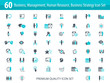 Set of 60 vector business and management icons