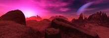 Beautiful Alien Landscape, Surface Of Another World