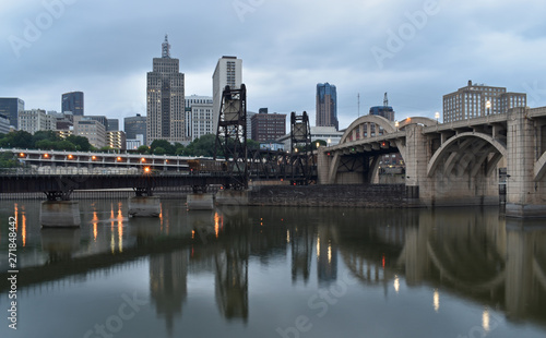 Photo  Saint Paul Minnesota Capital City Skyline Mississippi River Ramsey County
