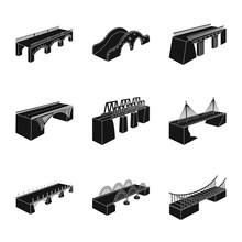 Vector Illustration Of Construct And Side Symbol. Collection Of Construct And Architecture Stock Symbol For Web.