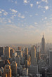 View of New York city and Empire State building from Top of The Rock.