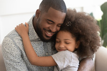 Loving African Father Hug Cute...