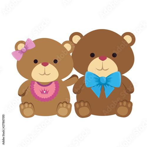 cutte little bears teddies couple #271867010