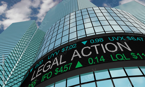 Legal Action Law Sue Business Company Stock Market 3d Illustration Canvas Print