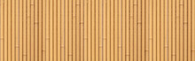 Panorama Of Brown Bamboo Fence...
