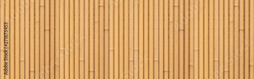 Panorama of Brown bamboo fence seamless background and pattern Wallpaper Mural