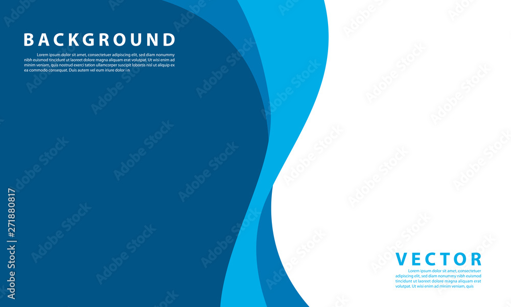 Fototapety, obrazy: Blue background vector illustration lighting effect graphic for text and message board design infographic
