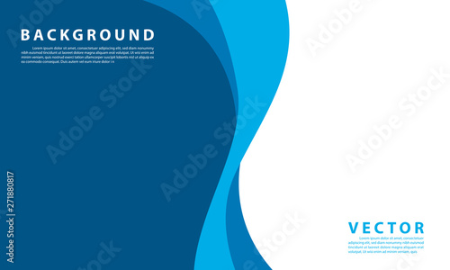 Obraz Blue background vector illustration lighting effect graphic for text and message board design infographic - fototapety do salonu