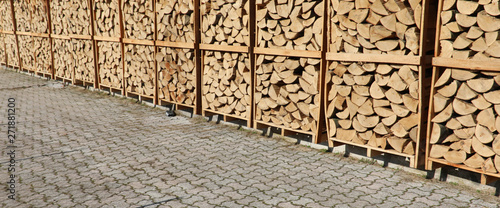 Fotografia background of wood already cut for combustion