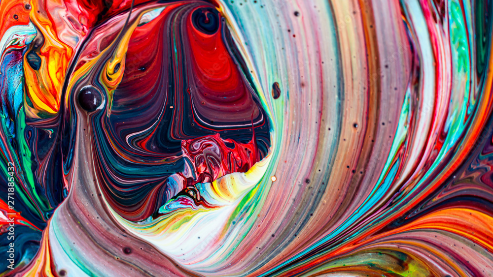 Fototapety, obrazy: Abstract background of colorful mixed paint