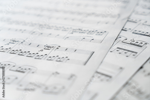 Music score in black and white - 271888052