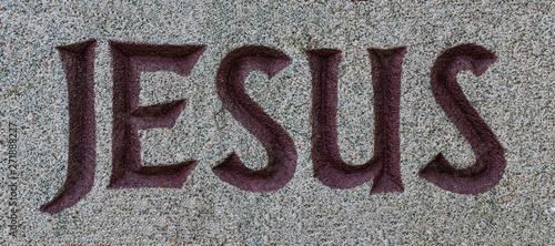Fotografía Jesus Inschrift Schriftzug