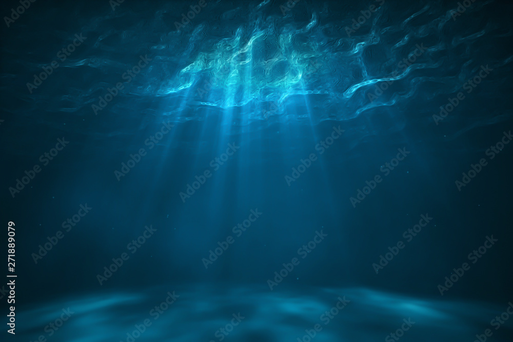 Fototapety, obrazy: Underwater scene with light