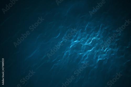 Obraz na płótnie Underwater scene with light