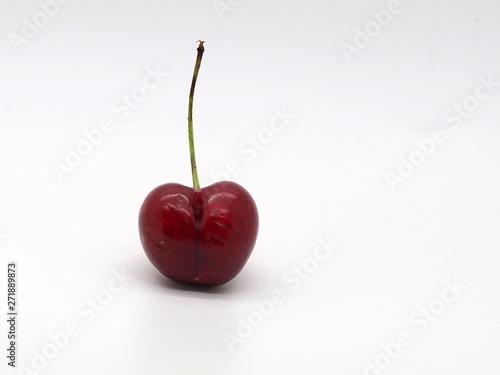 Fototapeta London, UK - June 2019 – Heart Shaped Cherry From The London Produce Show, Grosv