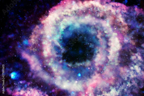 Poster Iris Colorful galaxy in space