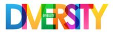 DIVERSITY Rainbow Vector Typog...