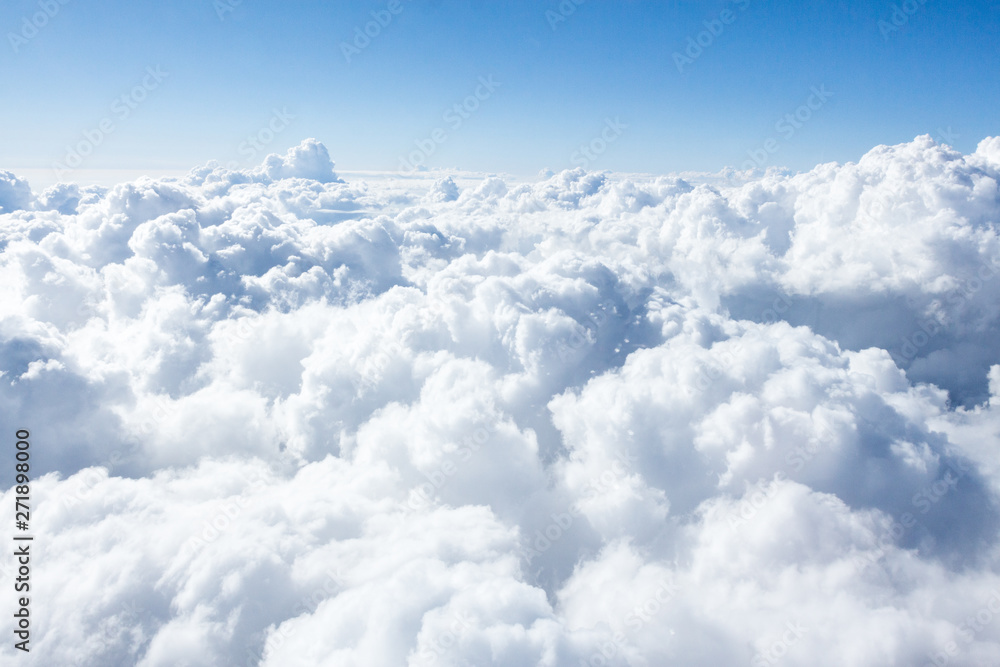 Fototapety, obrazy: Clouds and sky from airplane window view